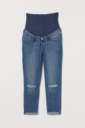 H&M MAMA Boyfriend Jeans - Blue