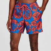 Merona Men's Tropical Print Swim Trunks Red