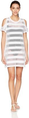 Calvin Klein Women's Cold Shoulder Swimsuit Cover up Dress