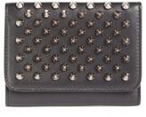 Christian Louboutin Women's Macaron Leather French Wallet - Black