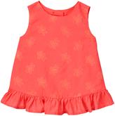 Gymboree Dark Coral Embroidered Tank - Infant & Toddler