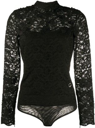 Just Cavalli Sheer Lace Bodysuit