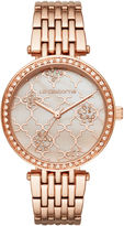Liz Claiborne Womens Rose Goldtone Bracelet Watch-Lc4000