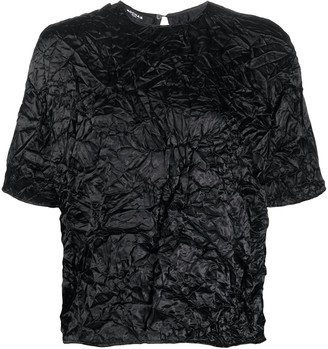 Rochas crinkle effect T-shirt