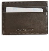 Johnston & Murphy Men's Leather Card Case - Grey