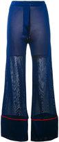 Laneus piped leg trousers - women - Viscose - 38