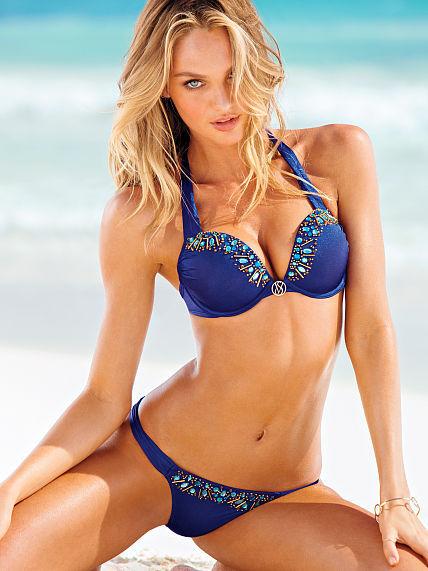 Victoria's Secret Bombshell Swim Tops Bombshell Push-Up Halter Top