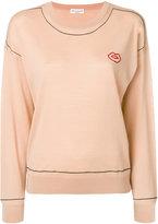 Sonia Rykiel fine knit lip print jumper