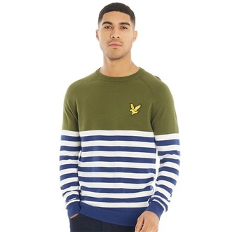 Lyle & Scott Vintage Mens Attaquer Knitted Jumper Chive