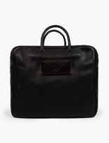 Maison Margiela Black Grained Leather Weekend Bag