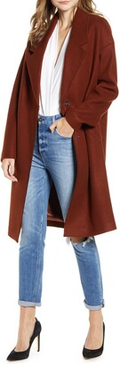 KENDALL + KYLIE Solid Brushed Coat