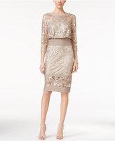 Tadashi Shoji Illusion Lace Blouson Dress