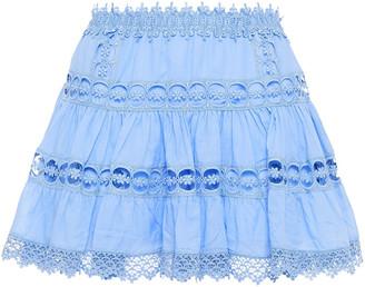 Charo Ruiz Ibiza Greta Crocheted Lace And Cotton-blend Voile Mini Skirt