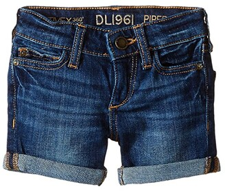 DL1961 Kids Piper Unstitched Cuffed Jean Shorts (Toddler/Little Kids)