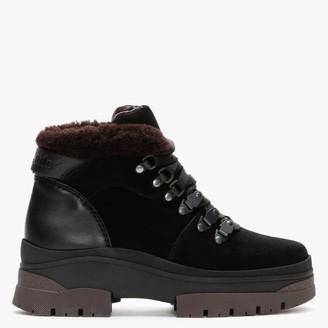 See by Chloe Aure Black & Brown Suede Walking Boots