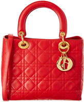 Christian Dior Red Lambskin Medium Lady
