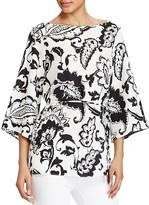 Lauren Ralph Lauren Paisley Print Kimono Sleeve Top