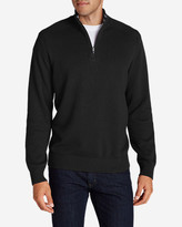 Eddie Bauer Men's Signature Cotton 1/4-Zip Sweater