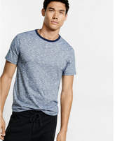 Express space dyed slub knit flex stretch crew neck tee
