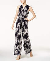 Jessica Howard Printed Belted Jumpsuit, Regular & Petite Sizes