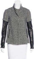Veronica Beard Leather-Accented Wool Jacket