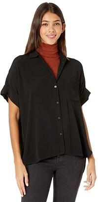 Madewell Daily Drapey Shirt (True Black) Women's Clothing