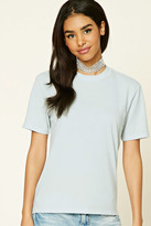Forever 21 FOREVER 21+ Distressed Boxy Tee
