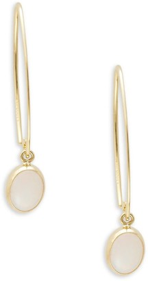 Saks Fifth Avenue Sweep 14K Yellow Gold & Opal Threader Earrings