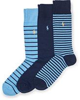 Ralph Lauren Contrast Heel-toe Sock 3-pack