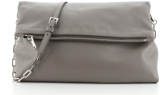Prada Fold Over Chain Flap Bag Soft Calfskin Medium