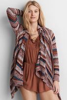 American Eagle Outfitters AE Striped Waterfall Cardigan