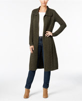 Style&Co. Style & Co. Cable-Knit Duster Cardigan, Only at Macy's