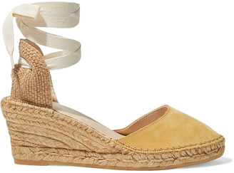 Iris & Ink Stina Suede Wedge Espadrilles
