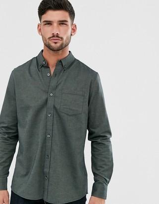 Burton Menswear oxford shirt in dark green