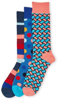 Happy Socks 3-Pack Stripe Sock Gift Set
