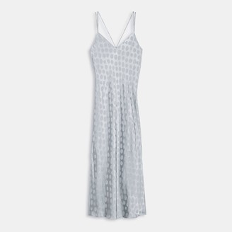 Theory Brushed Dot Jacquard Double-Strap Dress