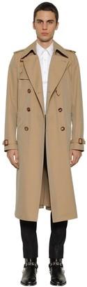 Alexander McQueen Double Breasted Gabardine Trench Coat