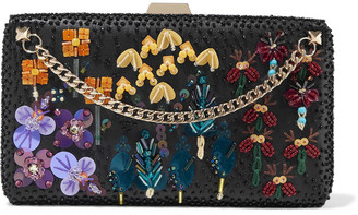 Valentino Secrets Chain-detailed Embellished Leather Box Clutch