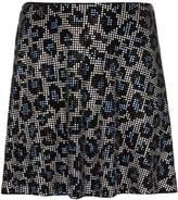 Adam Selman embellished leopard print skirt