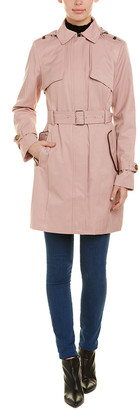 Cole Haan Classic Double-Breasted Trench Coat