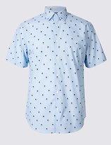 Limited Edition Pure Cotton Slim Fit Textured Shirt