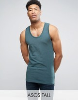 Asos TALL Muscle Fit Tank In Green