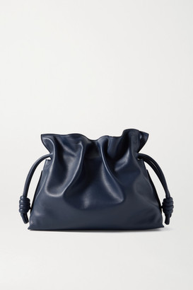 Loewe Flamenco Leather Clutch - Navy
