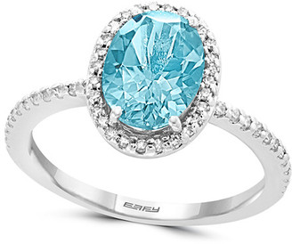 Effy 14K 1.94 Ct. Tw. Diamond & Aquamarine Ring