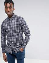 Jack Wills Shirt In Regular Fit In Flannel Check Navy/Gray