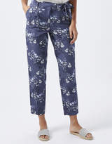 Monsoon Jamie Bird Print Trousers