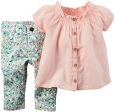 Carter's Floral Jeggings (Baby) - Pink - 12 Months