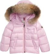 Moncler K2 Water Resistant Hooded Down Jacket with Genuine Fox Fur Trim