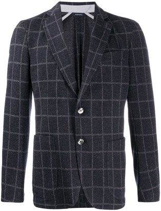 Tombolini check-print fitted blazer