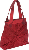 Global Elements Gathered & Knotted Silk Handbag
